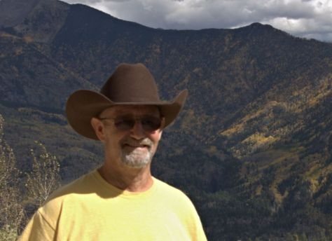 author, selfie, fall colors, San Juan National Forest background