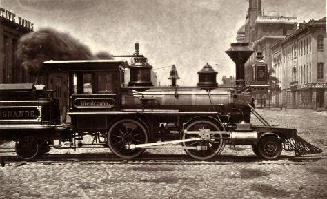 Dever and Rio Grande, steam locomotive,narrow gauge