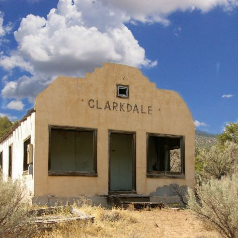 Clarkdale, New Mexico, Riverside, stateline, ghost town