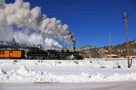 Durango and Silverton locomotive #478 in Hermosa