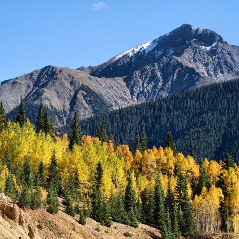 San Juan Mountains, fallcolors, SilvertonColorado, snow