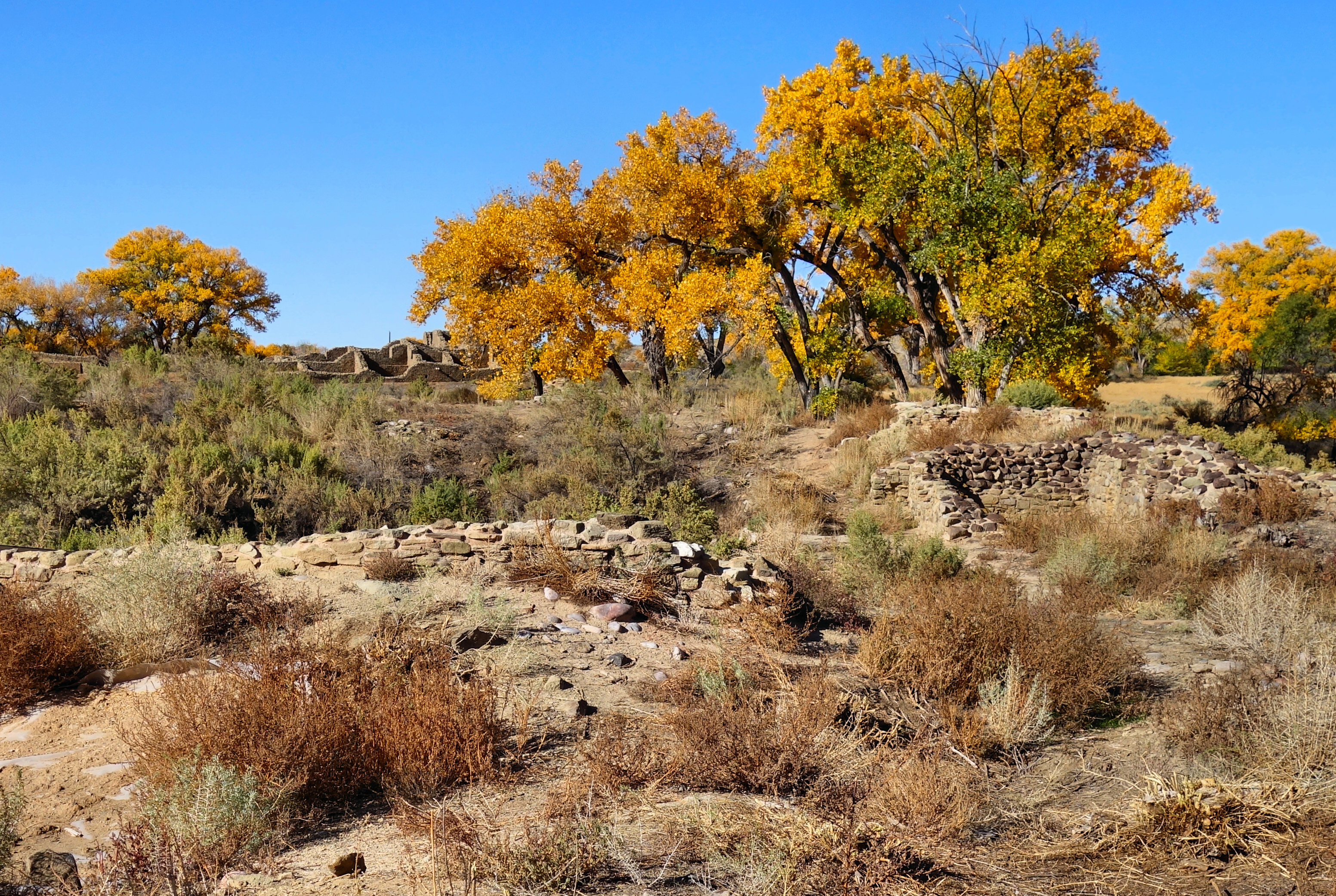 East Ruins, Aztec Ruins National Monument, National Park Service, autumn,