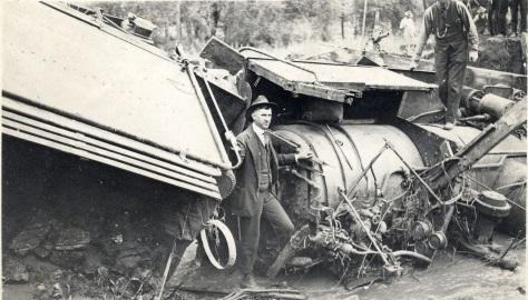 Wreck of Engine No 217