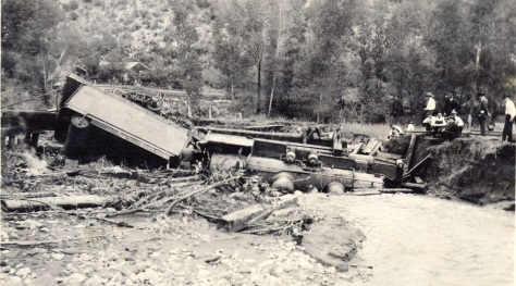 Wreck of Engine No 217west of durango